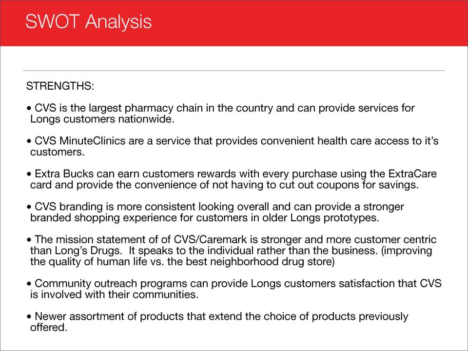Cvs Swot Analysis | Joseph Abbati