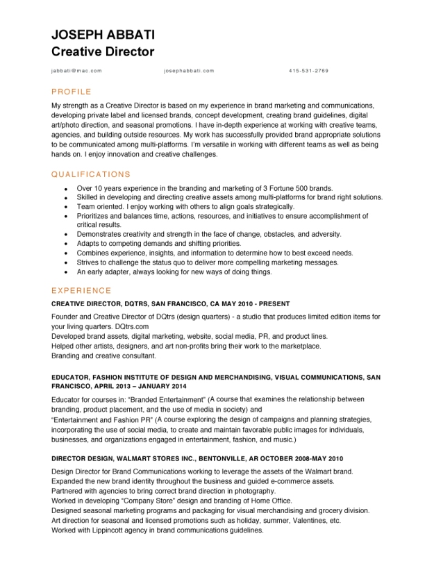 Microsoft Word - JosephAbbati_CD_resume.docx