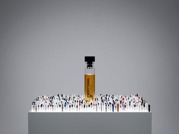 The bottle's design is reflective of the 1,400 test bottles used to create Everything.